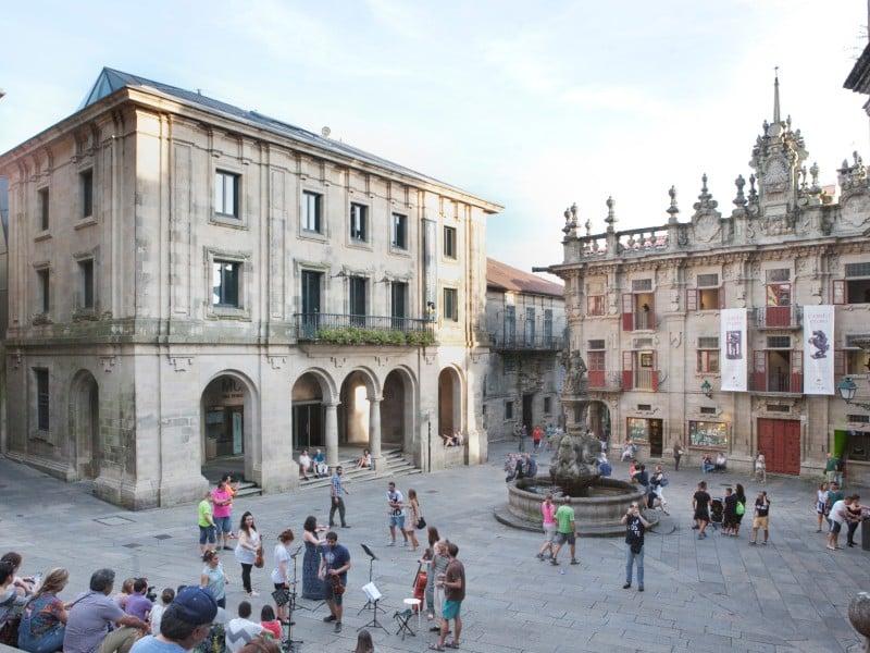 Santiago de Compostela-Praza de Praterías